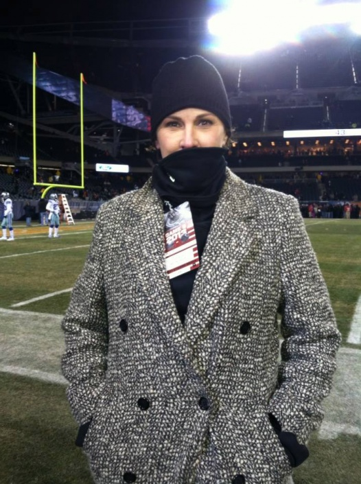 Traci Fine at Soldier Field in Chicago.