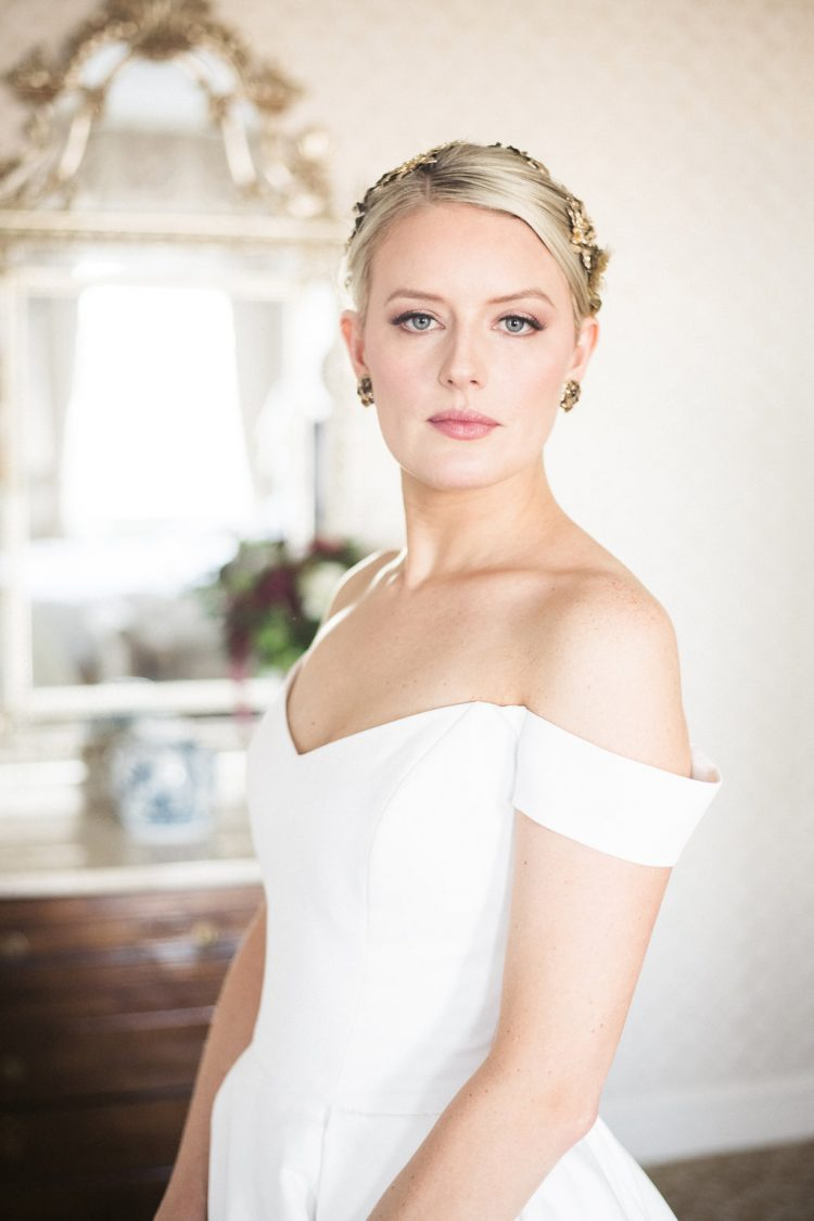 Bride at Womens Athletic Club Chicago. Makeup by Fine Makeup Art & Associates