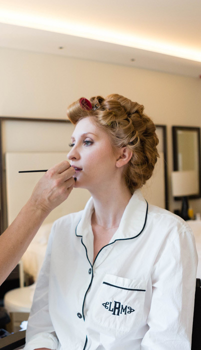 Chicago Makeup Artist Fine Makeup Art & Associates provides wedding makeup services at The Langham Hotel Chicago and hotels along Chicago's Gold Coast.