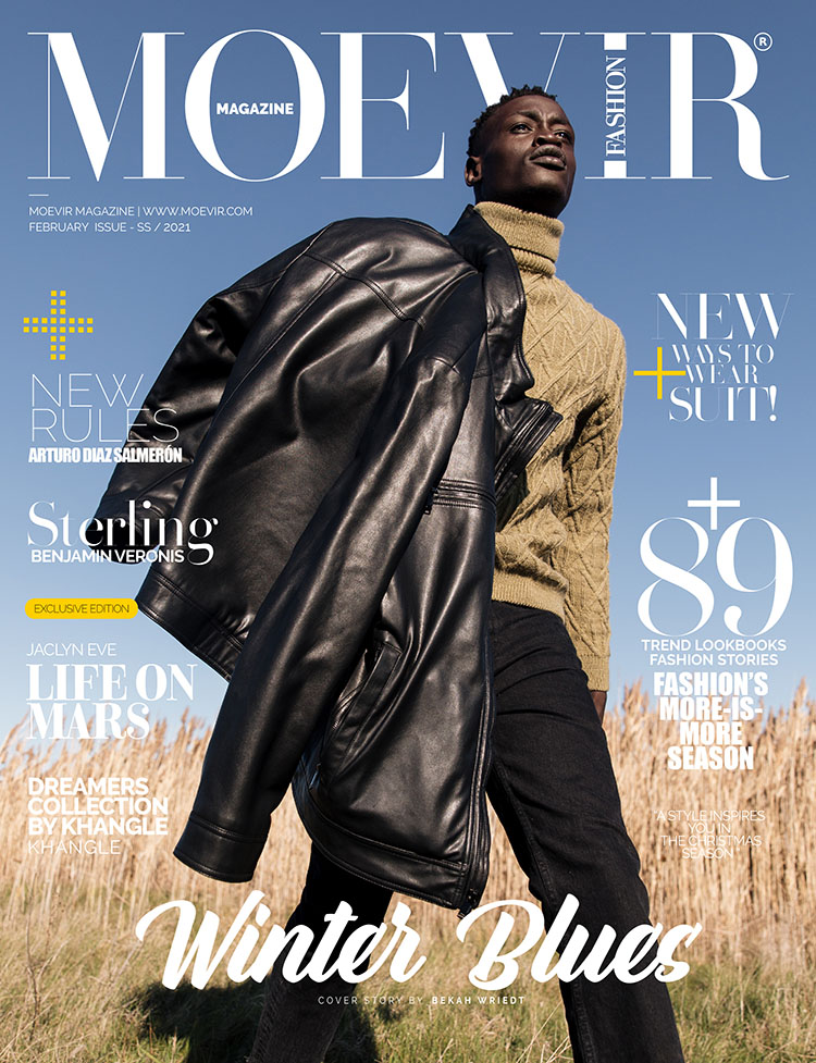 mens makeup for the cover of Moevir Magazine February 2021