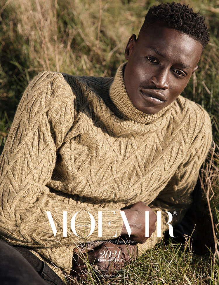 African American male on the cover of Moevir Magazine Paris February 2021