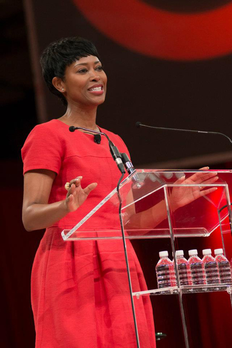 photo of Laysha Ward is executive vice president and chief corporate social responsibility officer for Target. Makeup by Fine Makeup Art & Associates