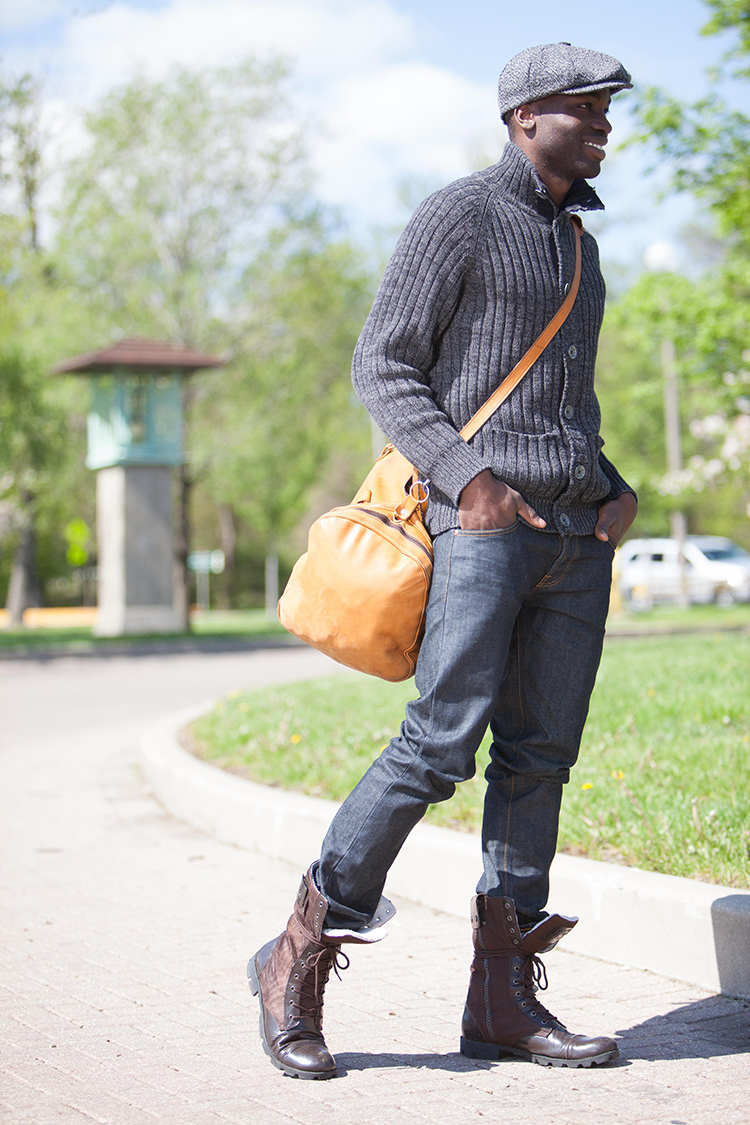 African American male model for shopping mall advertisement